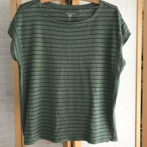 Size Large petite Eileen Fisher Linen tee striped.